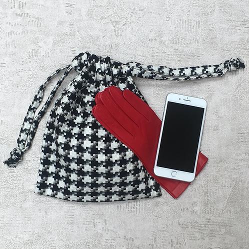 smallbags lainage pied de poule / woolen fabric bags
