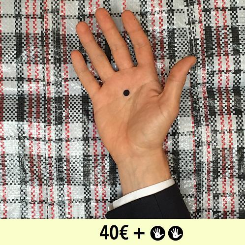 DON 40€ + 2 BADGES - diamètre 25mm / PIN BADGE x2 - diameter 0,98 in