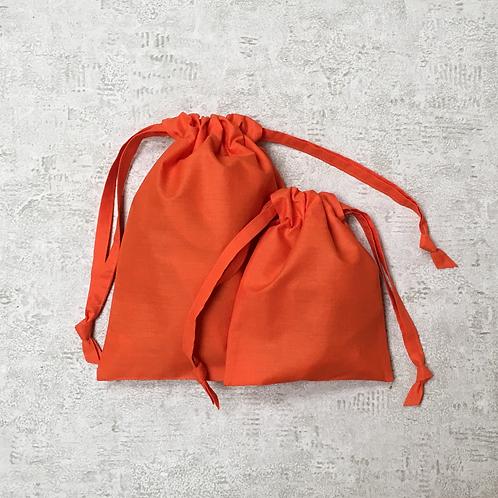 smallbags unis - 2 tailles - 6 couleurs / cotton sheet bags - 2 sizes - 6 colors