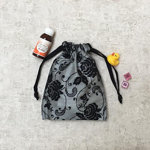 sac sexy imprimé dentelle noire - 2 tailles / printed lace toys bag - 2 sizes
