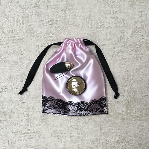 sac sexy - satin et dentelle - pink satin & lace / toys bags
