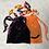 Thumbnail: smallbags velours lisse changeant / dark purple velvet reflecting green bag