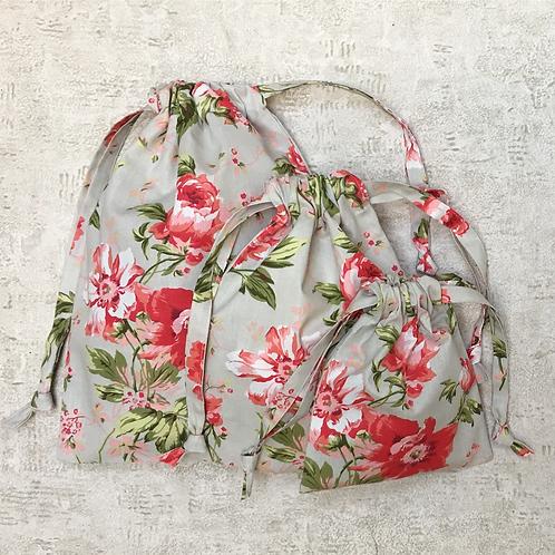 smallbags uniques drap fleuri - 3 tailles / unique flowered smallbags - 3 sizes