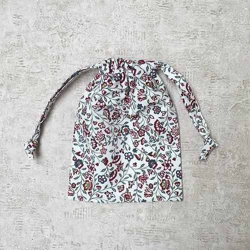 smallbag unique coton fleuri / unique flowered cotton bag