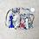 Thumbnail: kit 2 smallbags fleuris - 2 tailles / 2 flowered cotton bags kit - 2 sizes