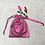 Thumbnail: smallbags voile rose type lamé   / shinning light rose bags