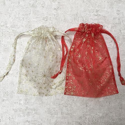 smallbags voile imprimé doré - 2 couleurs / golden printed veil bags - 2 colors