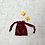 Thumbnail: smallbags velours froissé changeant  / red velvet reflecting green bag