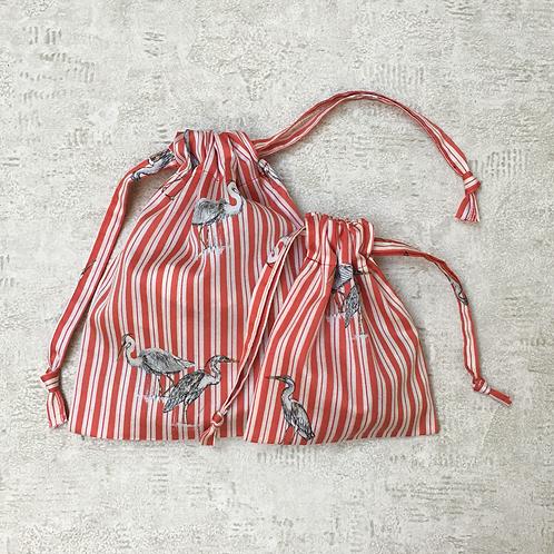 smallbags coton imprimé - 2 tailles / printed cotton bags - 2 sizes