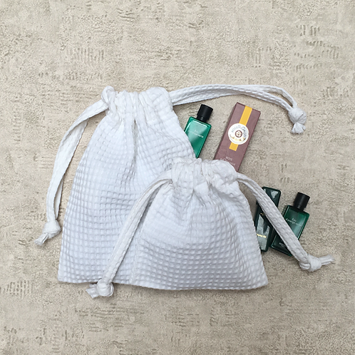 smallbags nid d'abeille - 2 tailles / honeycomb cotton bags - 2 sizes
