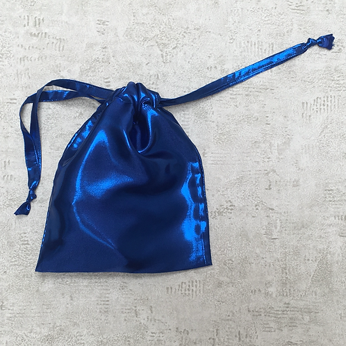 smallbags voile bleu - 3 tailles   / blue metal bags - 3 sizes