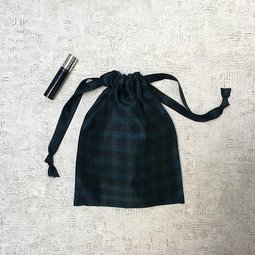 smallbag unique soie marine et vert  / unique silk bag
