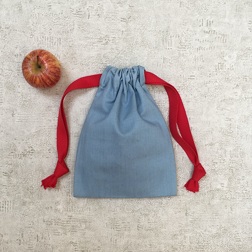 smallbags denim bleu ciel - 2 tailles / sky blue denim bags - 2 sizes