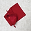 Thumbnail: smallbags en lainage rouge doublé / woolen red fabric lined bag