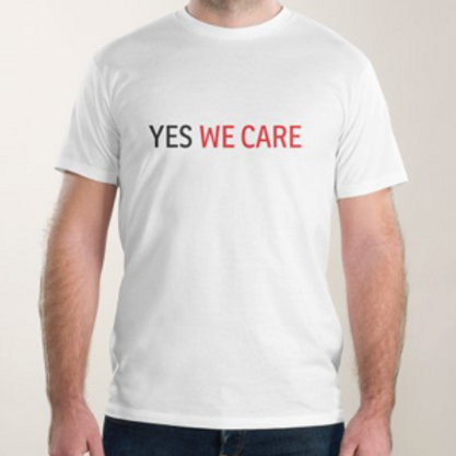 "T Shirt Homme ""Yes we care"""