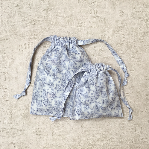 smallbags coton imprimés - 2 tailles / printed cotton bags - 2 sizes