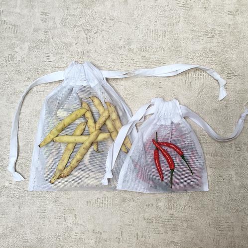 smallbags en filet blanc - 2 tailles / white net bags - 2 sizes