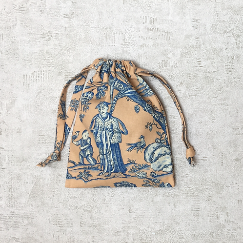 smallbags Toile de Jouy - 4 tailles / real french famous Toile de Jouy - 4 sizes