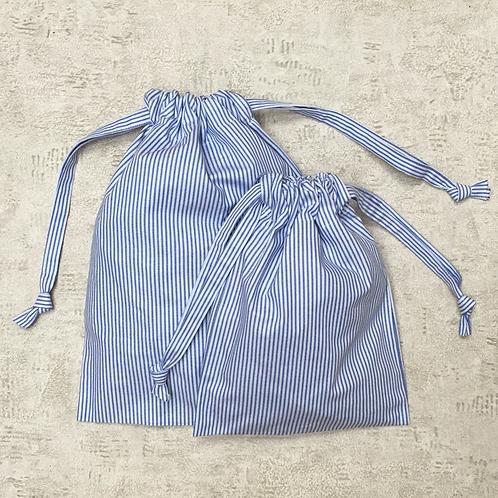 smallbags en coton rayé - 4 tailles / cotton bags - 4 sizes