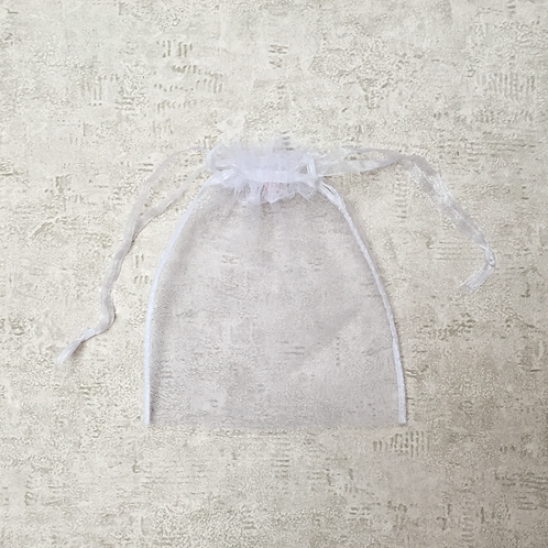 smallbags tulle blanc - 2 tailles / white tulle veil bags - 2 sizes
