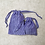 Thumbnail: kit 2 smallbags en lin bleu roi / royal blue linen 2 bags kit