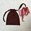 Thumbnail: smallbag unique soie rouge foncé  / unique dark red silk bag