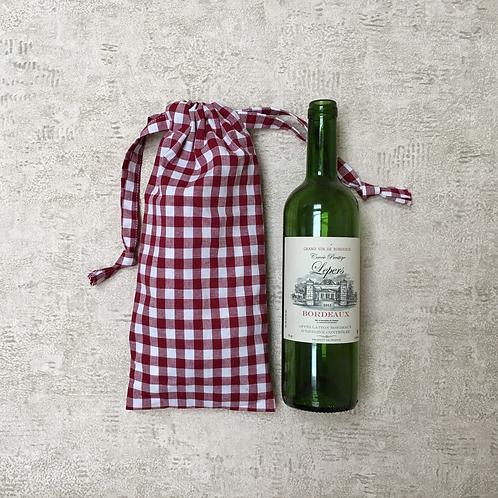 smallbags vichy pour bouteille - 7 couleurs / cotton bottle bags - 7 colors