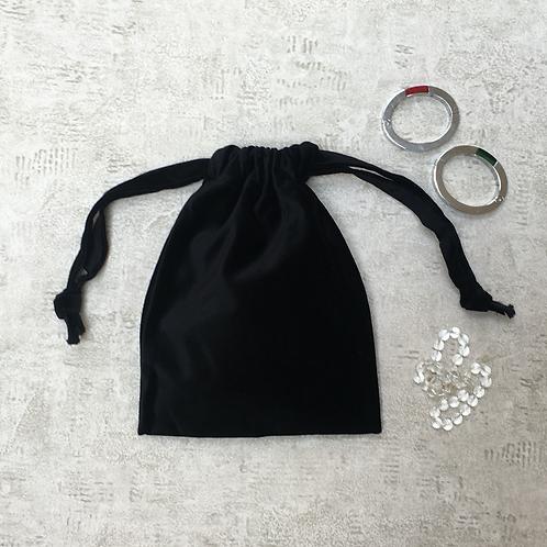smallbags velours de coton lisse - 4 couleurs / velvet bags - 4 colors