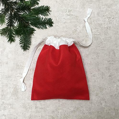 smallbags de noël feutrine et coton / xmas gifts smallbags