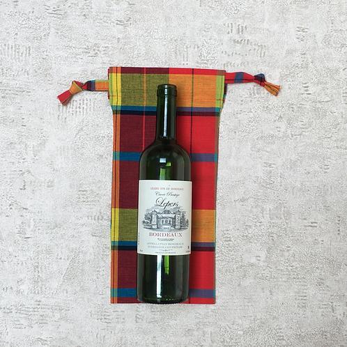 """smallbags pour bouteille en madras / """"madras"""" cotton bottle bags"""
