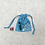 Thumbnail: smallbags toile provençale  - 2 tailles / sky blue fabric bag - 2 sizes