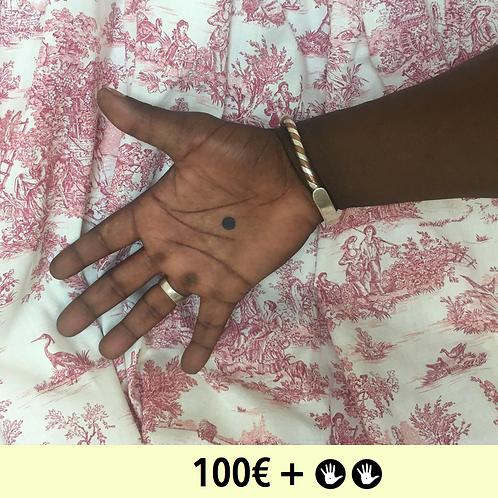 DON 100€ + 2 BADGES - diam. 25mm / DONATE 100€ + PIN BADGE x2 - diam. 0,98 in