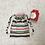 Thumbnail: smallbag de noël rayé  / cotton xmas striped bag