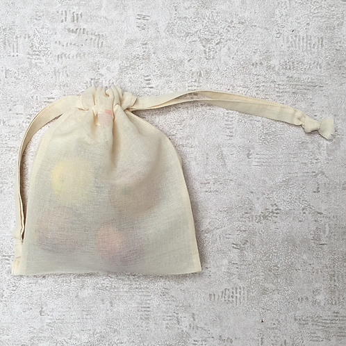 smallbags toile à beurre - 2 tailles / beige cotton veil bags - 2 sizes