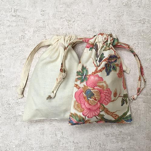 kit unique 2 smallbags satin de coton & soie / silk & mattress cover bags kit