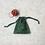 Thumbnail: smallbags coton imprimé noël - 2 tailles / printed cotton xmas bags - 2 sizes