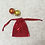Thumbnail: smallbags voile rouge brillant - 3 tailles   / shining red veil bags - 3 sizes