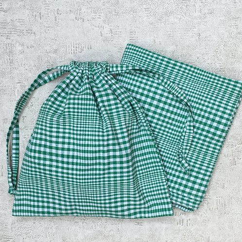 kit pique-nique : baluchon, nappe & 2 smallbags / picnic kit tablecloth & 3 bags