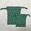 Thumbnail: kit unique 2 smallbags fleuris verts / unique flowered green cotton 2 bags kit