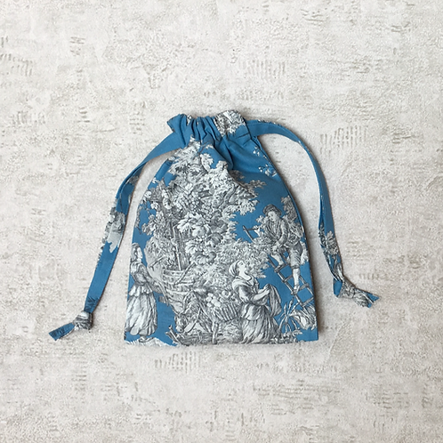 smallbags Toile de Jouy - 4 tailles / real french Toile de Jouy - 4 sizes