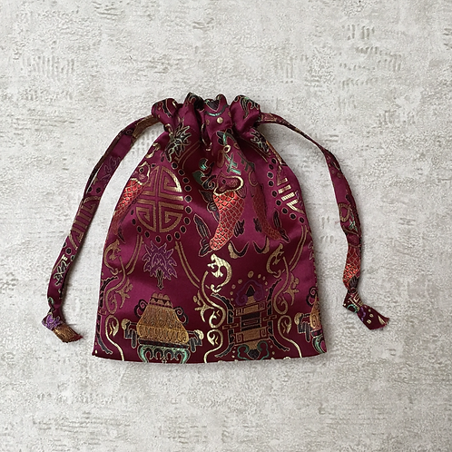 smallbags tissu chinois bordeaux  / bordeaux red chinese bags
