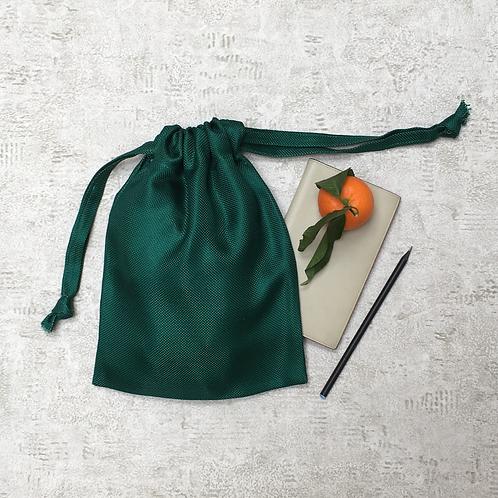 kit unique 2 smallbags en soie verte / unique green silk kit 2 smallbags