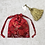 Thumbnail: smallbags tissu chinois rouge - 2 tailles / red chinese bags - 2 sizes