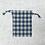 Thumbnail: smallbag coton japonais beige et bleu / japonese cotTon fabric blue & ivory