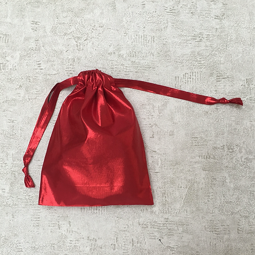 smallbags voile rouge brillant - 3 tailles   / shining red veil bags - 3 sizes
