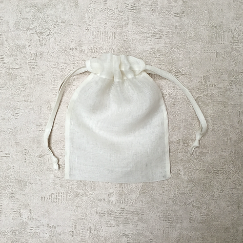 smallbag unique lin blanc cassé / unique linen bag