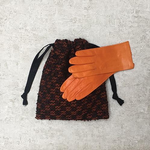 smallbag unique en lainage brun / unique bag woolen fabric