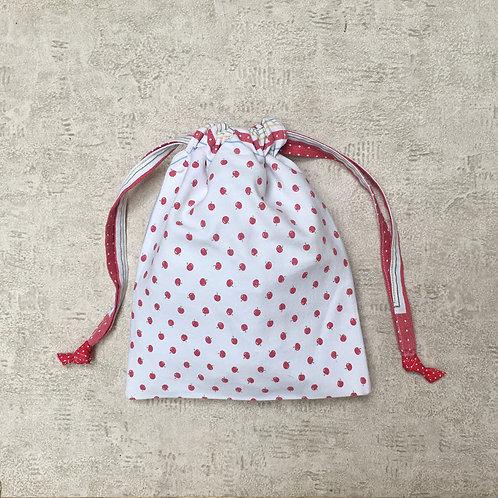 pochon recyclé en coton / unique recycled cotton fabric smallbag