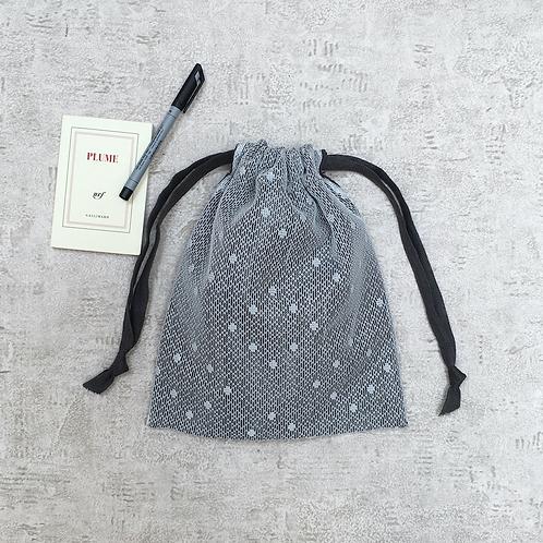 smallbags dentelle doublée lin - 3 tailles / cotton & linen bags - 3 sizes