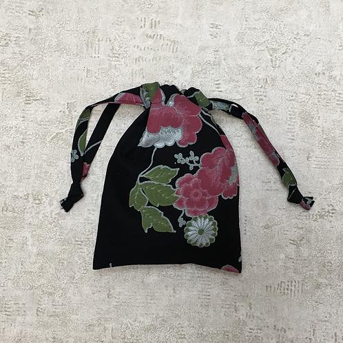 smallbag unique noir fleuri / unique flowered black bag